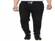 Buy Zacharias Black Cotton Blend Trackpant at Rs 325 Only