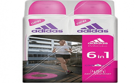 Buy Adidas 6 in 1 Deodorant for Female, 300ml (Pack of 2) at Rs 423 from Amazon