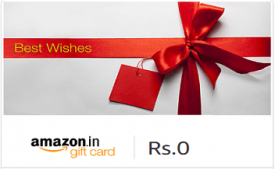 Amazon Email Gift Cards Offer : Get 5% Cashback Upto Rs 150 On Raksha Bandhan Gift Card Purchase