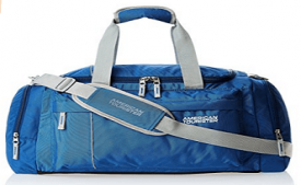 Buy American Tourister Nylon 55 cms Blue Travel Duffle at 874 from Amazon
