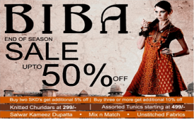 Biba Coupons Offers: Get 60% OFF + Extra Rs 250 Cashback on Womens Ethnic Wears