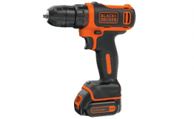 Buy Black + Decker BDCD12 10.8V Li-Ion Cordless Drill (Orange, 3-Pieces) just at Rs 2,999 only from Amazon