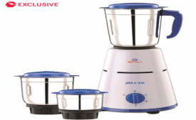 Buy Bajaj Pluto 500 Watt 3 Jar Mixer Grinder at Rs 2,059 Only from Snapdeal