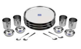 Buy Bhalaria Pack of 16 Dinner Set (Stainless Steel) from Flipkart at Rs 679 Only
