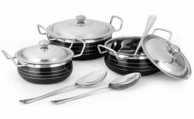 Buy Classic Essentials Enamel Cookware Set 9 Cook n Serve Casseroles from Amazon at Rs 599 Only