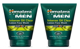 Buy Himalaya Men Intense Oil Clear Lemon Face Wash 100ml (Pack of 2) at Rs 140 from Amazon