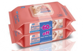 Buy Johnson's baby skincare Wipes 80s pack of 2 from Amazon at Rs 266 Only