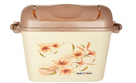 Buy Nayasa Swing Dustbin with Lid, 13.5 Litres, Brown at Rs 251 from Amazon