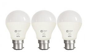 Buy Orient Electric B22 9-Watt LED Bulb (Pack of 3, CDL White) at Rs 480 from Amazon