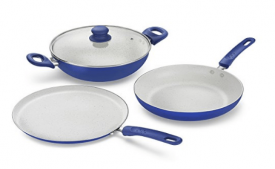 Prestige Marble Induction Base Non- Stick Aluminium Kadai 3-Pieces at Rs 1,564 Amazon
