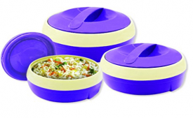 Buy Princeware Solar Plastic Casserole (Set of 3) from Amazon At Rs 278 Only
