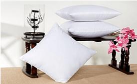 Buy Hemden Plain Back Cushion Pack of 5 (White) at Rs 248 from Flipkart