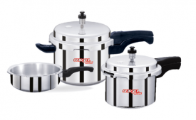 Buy Leo Natura Eco + 2 L, 3 L, 5 L Induction Bottom Pressure Cooker (Aluminium) at Rs 1,099 Only from Flipkart