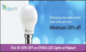 Syska led lights Bulbs - Flat 45% Off on Flipkart