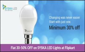 Syska led lights Bulbs - Flat 45% Off on Flipkart