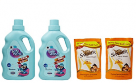 Buy Wipro Safewash Liquid Detergent with Free Santoor Hand Wash at Rs 335 Only