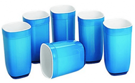 Buy Cello Ceramica Square Glass Set, 6-Pieces, Blue at Rs 348 from Amazon