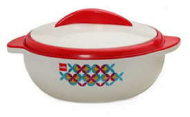 Buy Cello Sizzler Plastic Casserole 1.5 Litres, Red at Rs 258 from Amazon