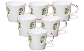 Buy Clay Craft Beans 308 Coffee Mug Set, 160ml/5.7cm, Set of 6 at Rs 277 from Amazon