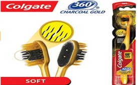 Buy Colgate Toothbrush 360 Degree Charcoal Gold Soft Bristles at Rs 49 from Amazon