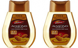 Buy Dabur Almond Hair Oil, 500ml (Pack of 2) at Rs 150 from Amazon