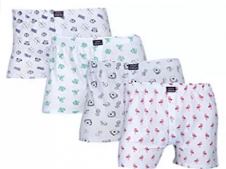 Buy Feed Up Mens Cotton Hosiery Boxers Pack of 4 at Rs 549 from Amazon
