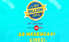 Flipkart Big Billion Days Offers from 20th-24th September 2017 : 90% OFF On Mobiles + Extra 10% Using SBI Cards