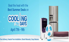Flipkart Cooling days offers Flat 10% on Air Conditioners, Refrigerators from 21st - 23rd April