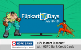 Flipkart Smart TV Carnival Offers 2017: Starting From Just 13,999 On Dec 11th & 12th