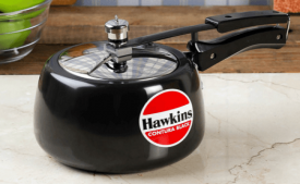 Buy Hawkins Contura Black Aluminium 3 L Pressure Cooker at Rs 1,321 from Pepperfry