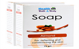 Buy Healthvit Bath and Body Almond Soap, 75g at Rs 80 from Amazon