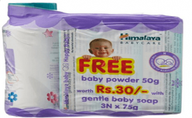 Buy Himalaya Gentle Baby Soap, 3x75g + Baby Powder, 50g Free at Rs 89 from Amazon