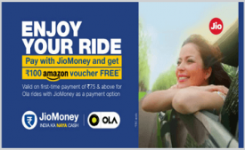 Jio Money Offers: Pay with Jio Money & Get Rs 100 Amazon Voucher FREE