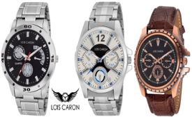 Buy Lois Caron Watch from Flipkart Starting at Rs 199 Only