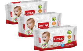 Buy Luvlap Paraben Free Baby Wet Wipes with Aloe Vera (80 Wipes, Pack of 3) at Rs 199 from Amazon
