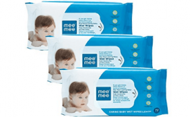 Buy Mee Mee Caring Baby Wet Wipes with Lemon Fragrance - 72 pcs (Pack of 3) at Rs 178 from Amazon