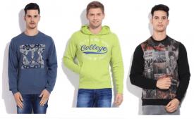 Buy Mens Full Sleeve Sweatshirt Under Rs 999 From Flipkart