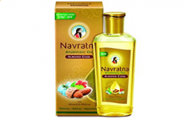 Buy Navratna Almond Cool Oil, 200ml at Rs 90 from Amazon