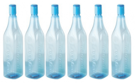 Buy Nayasa Cosmos PET Fridge Bottle, Set of 6, Blue at Rs 188 from Amazon