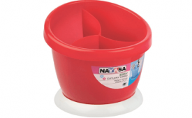 Buy Nayasa Jerry Plastic Cutlery Stand, Red at Rs 63 from Amazon