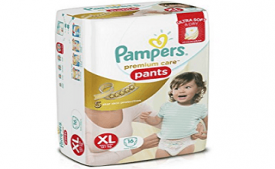 Buy Pampers Premium Care Extra Large Size Diaper Pants at Rs 276 from Amazon