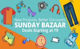 Paytm Sunday Bazaar Sale- Weekend Shopping Starting @ Rs 7 (Super Cashback Sale)