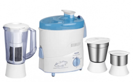 Buy Philips HL1632 500 W Juicer Mixer Grinder (Blue, 3 Jars) at Rs 3,299 from Flipkart