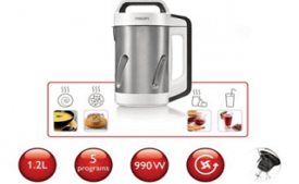 Buy Philips Viva Collection HR2201/81 1.2-Litre Soup Maker at Rs 6,193 from Amazon
