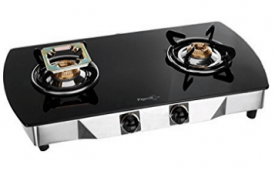 Buy Pigeon Blackline Oval SS Gas Stove, 2 Burner at Rs 2,747 from Amazon