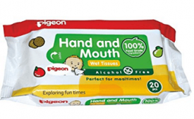 Buy Pigeon Hand and Mouth Wipes 20S 2 in 1 at Rs 195 Amazon