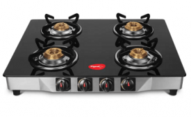 Buy Pigeon Ultra Glass, Stainless Steel Manual Gas Stove (4 Burners) at Rs 2700 from Flipkart (prepaid)