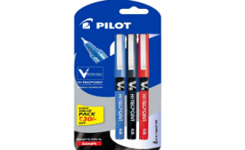 Buy Pilot V5 Liquid Ink Roller Ball Pen - 1Blue + 1Black + 1Red at Rs 100 from Amazon