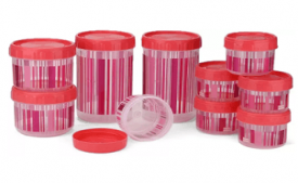 Buy Polyset F-Kart Twisty Plastic Multi-purpose Storage Container (Pack of 10, Pink) at Rs 199 from Flipkart