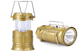Buy Premsons 6 LED Solar Power Camping Lantern Rechargeable Hiking Flashlight at Rs 267 from Amazon